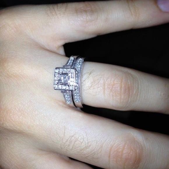 403232e76a350b Kay Jewelers Jewelry | Diamond Engagement And Wedding Band Set ...